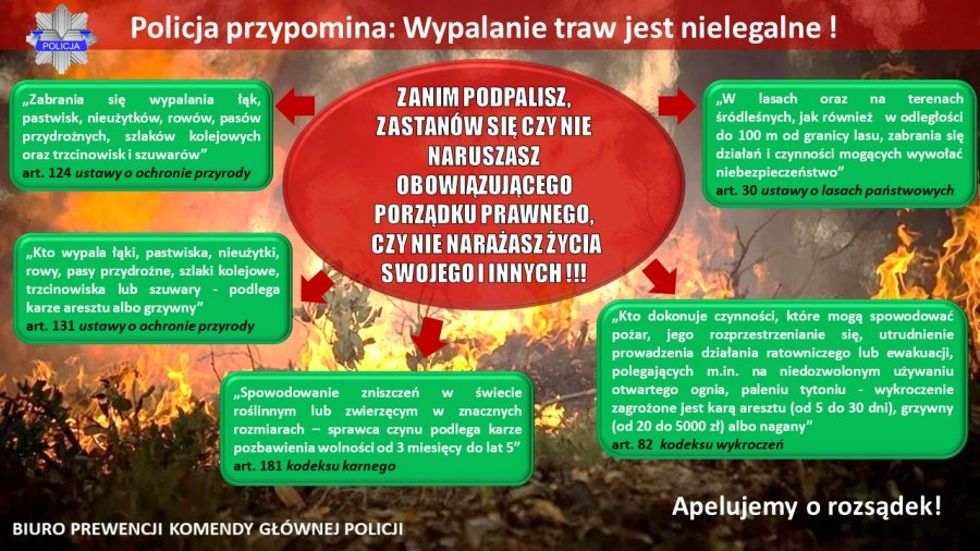 infografika dotycząca wypalania traw