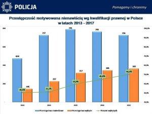 Przestępczość motywowana nienawiścią wg. kwalifikacji prawnej w Polsce w latach 2011-2017