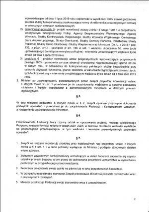 Propozycje MSWiA dla funkcjonariuszy – pełna treść projektu porozumienia