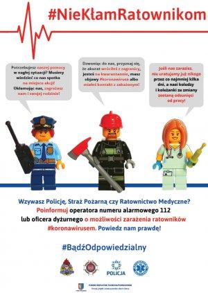 Plakat promujący akcję - NieKłamRatownikom